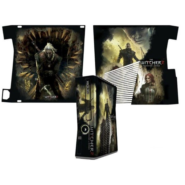 Skin Console XBOX 360 Slim The Witcher 2