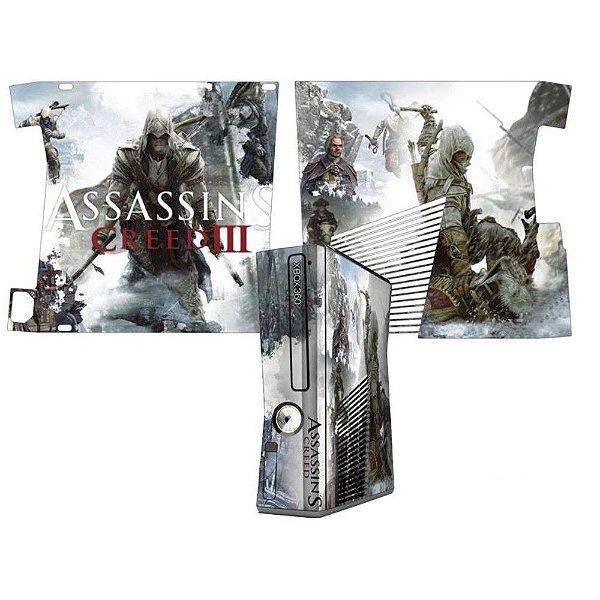 Skin Console XBOX 360 Slim Assassins Creed 3 Mod 1