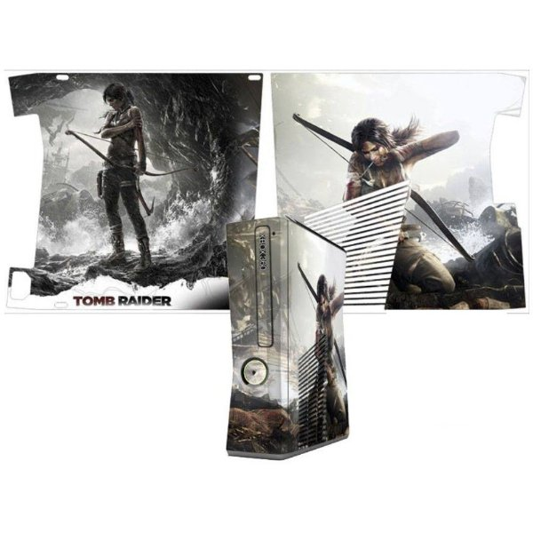 Skin Console XBOX 360 Slim Tomb Raider Mod 04