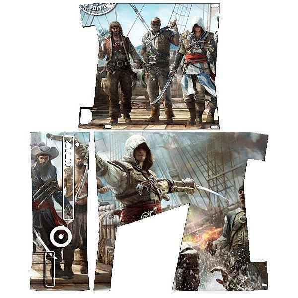 Skin Console XBOX 360 Slim Assassins Creed Mod 01