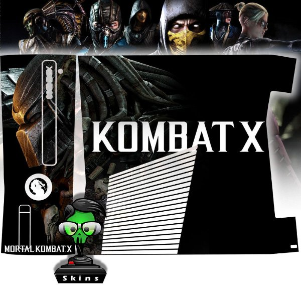 Skin Console XBOX 360 Slim Mortal Kombat X Mod 02