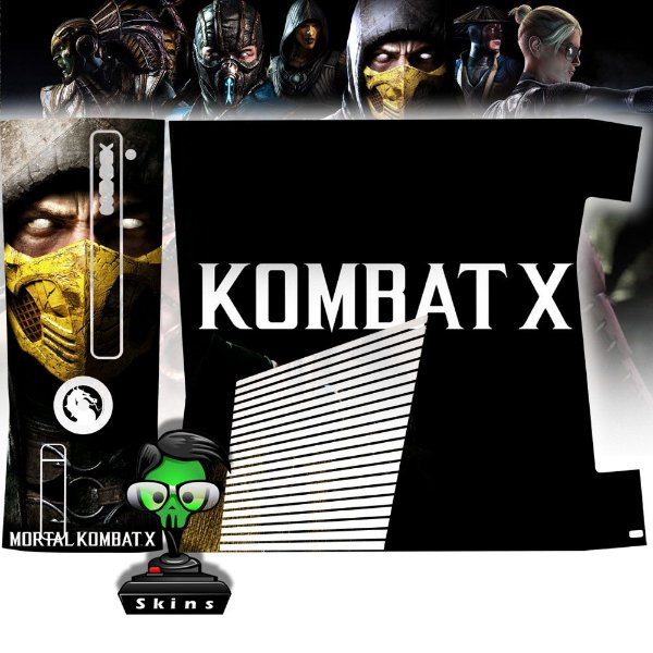 Skin Console XBOX 360 Slim Mortal Kombat X Mod 04