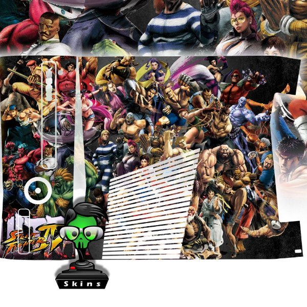Skin Console XBOX 360 Slim Street Fighter 4