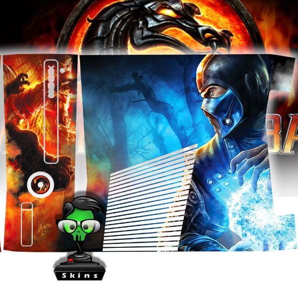 Skin Console XBOX 360 Slim Mortal Kombat X Mod 05