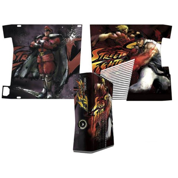 Skin Console XBOX 360 Slim Street Fighter Mod 05