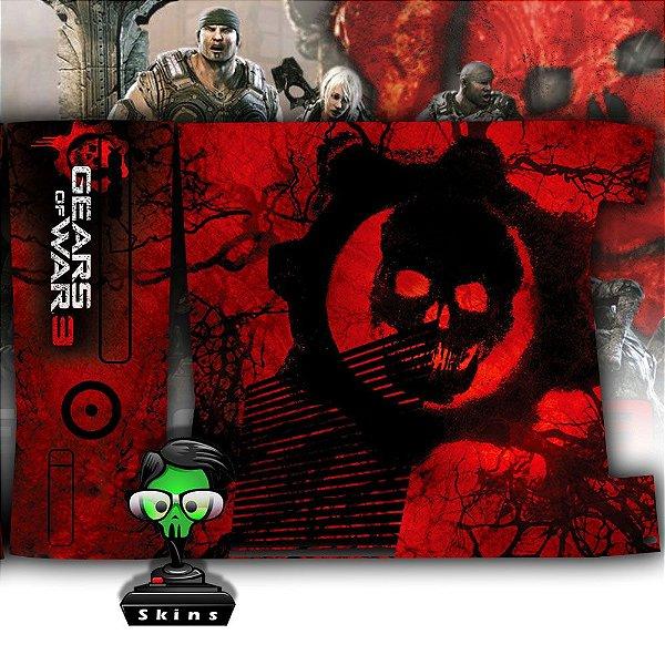 Skin Console XBOX 360 Slim Gears of Wars 3 Mod 1