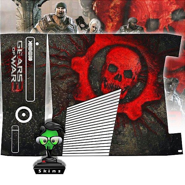 Skin Console XBOX 360 Slim Gears of Wars 3 Mod 2