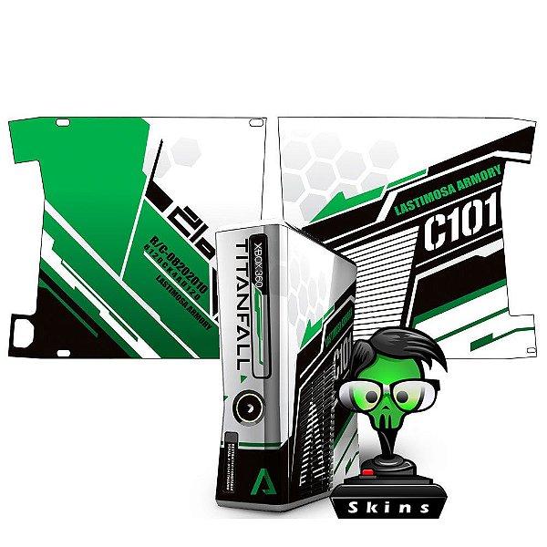 Skin Console XBOX 360 Slim Titanfall Green