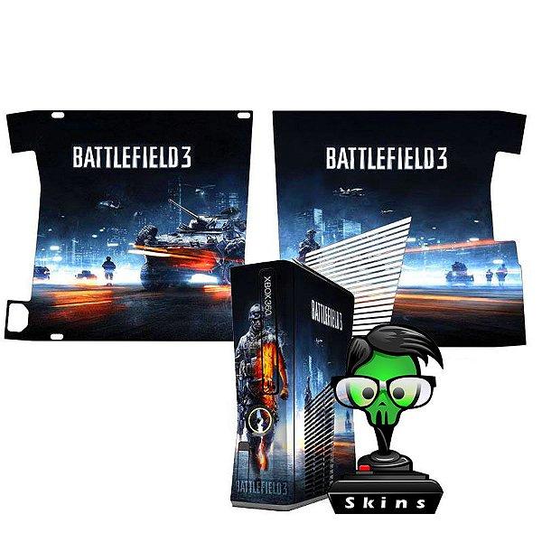 Skin Console XBOX 360 Slim Battlefield