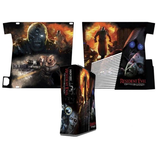 Skin Console XBOX 360 Slim Resident Evil mod 3