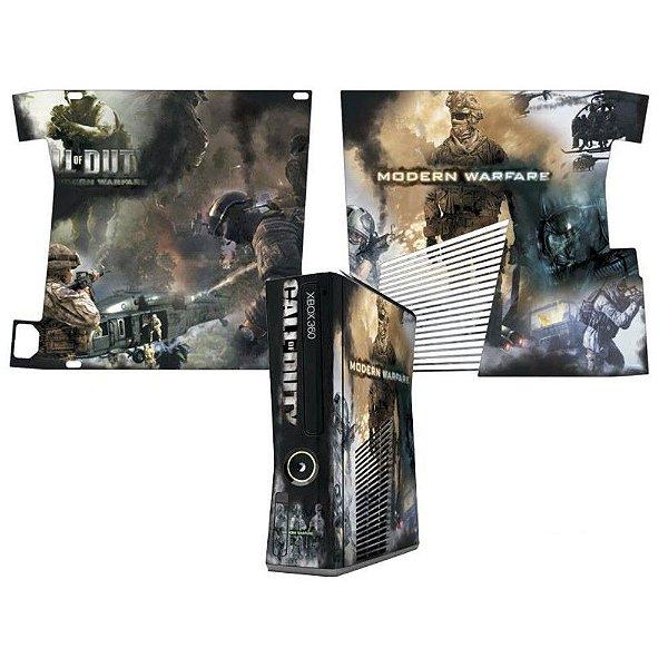 Skin Console XBOX 360 Slim Call of Duty Modern Warfare