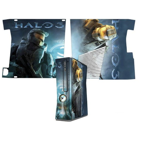 Skin Console XBOX 360 Slim Halo 3 mod 2