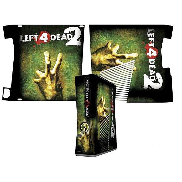 Skin Console XBOX 360 Slim Left 4 Dead 2