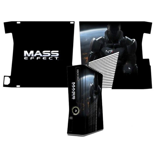 Skin Console XBOX 360 Slim Mass Effect Mod 2