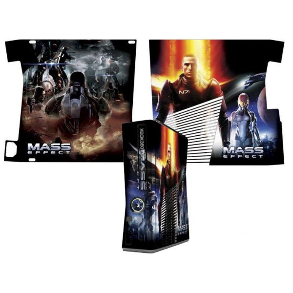 Skin Console XBOX 360 Slim Mass Effect Mod 3