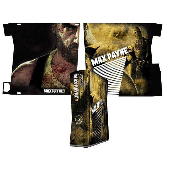 Skin Console XBOX 360 Slim Max Payne 3