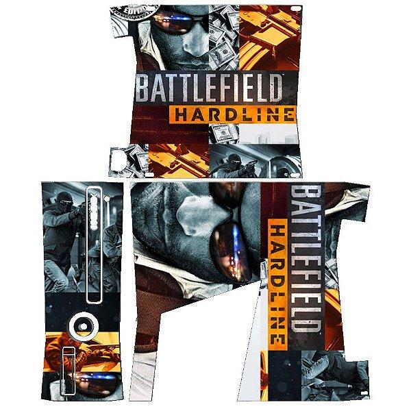 Skin Console XBOX 360 Slim Battlefield Hardline
