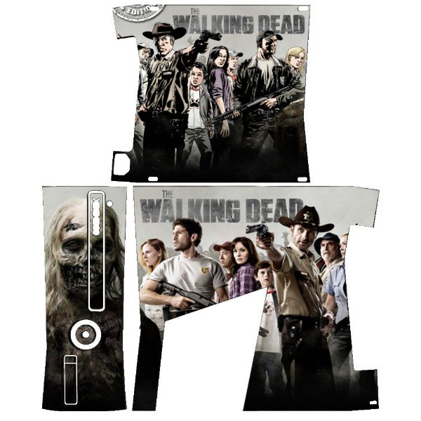 Skin Console XBOX 360 Slim The Walking Dead