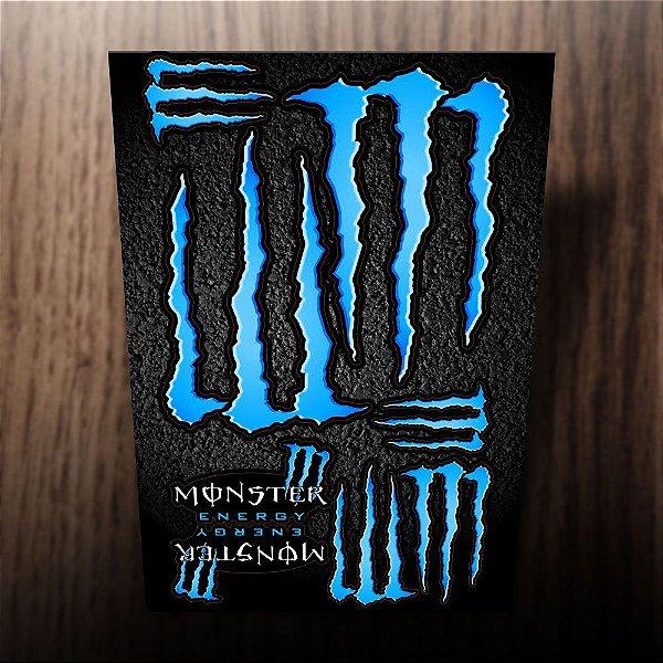 Adesivos monster energy azul ciano 20x30cm