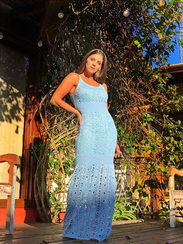 Vestido Mônaco Azul Claro