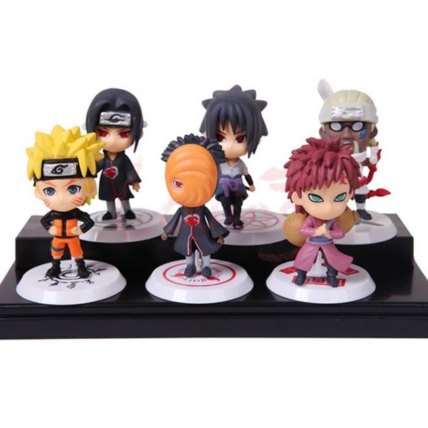 Naruto Coleção 6 bonecos - Naruto, Sasuke, Bee, Gaara, Tobi, Itachi - MugenMundo