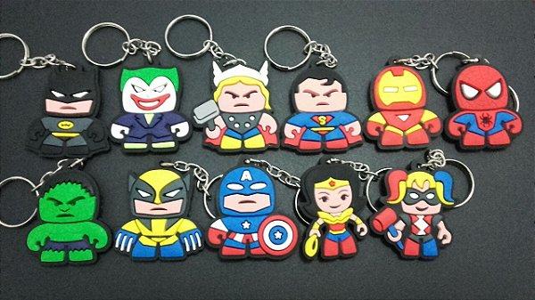Chaveiros Dc/Marvel/Avengers/liga Da Justiça -100 Unidade