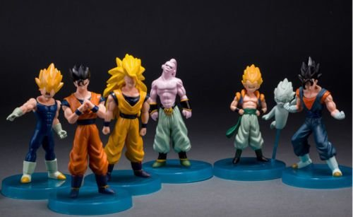 Dragon Ball Z - BUU Saga Figures - 6 PEÇAS - Gotenks, Vegeta, Goku SSJ3, Super Buu, Vegetto, Gohan
