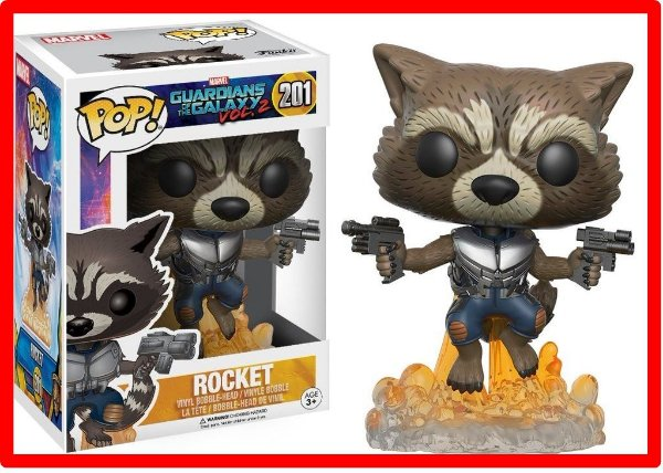 Funko Pop! Marvel Guardiões Da Galáxia 2: Rocket Raccoon 201