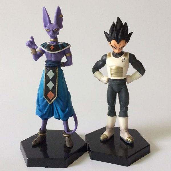 Bonecos Dragon Ball Super - Vegeta e Beerus 2 em 1