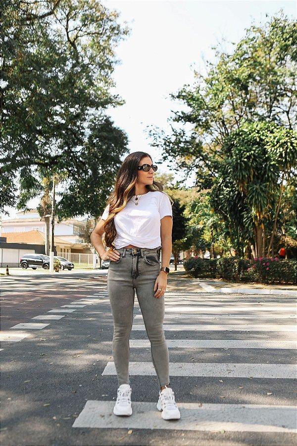 Calça Skinny Joanna - Mescla Cinza