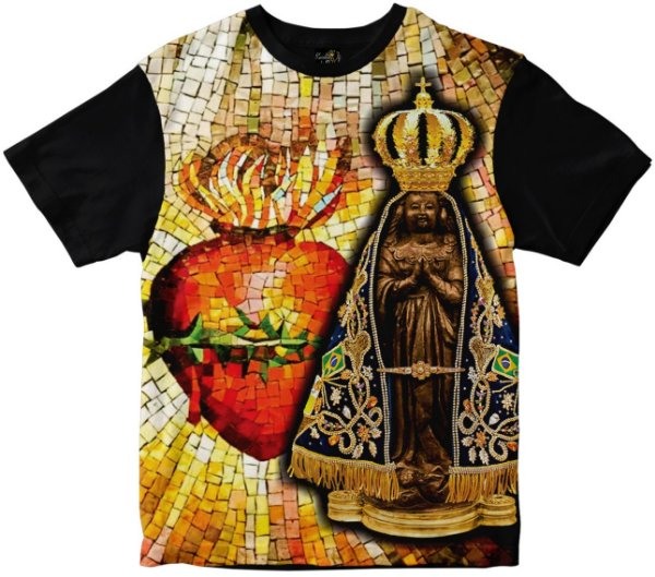 LANÇAMENTO Camiseta Nossa Senhora Aparecida Rainha do Brasil
