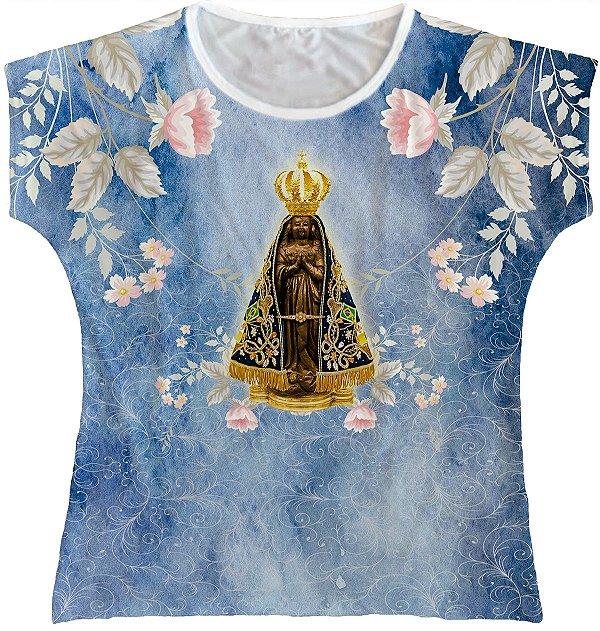 LANÇAMENTO Blusa Feminina bata Nossa Senhora Aparecida Rainha do Brasil