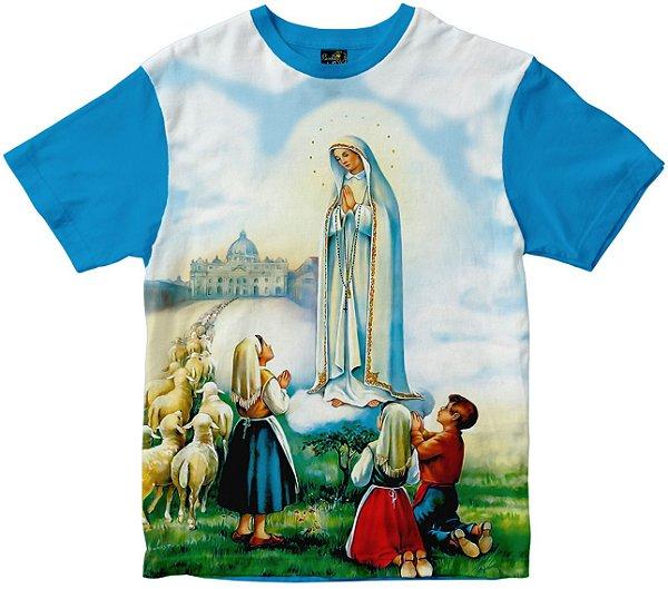 Camiseta Nossa Senhora de Fátima Rainha do Brasil
