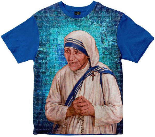 Camiseta Santa Madre Teresa de Calcutá Rainha do Brasil