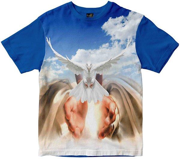 Camiseta Divino Espírito Santo e mãos Rainha do Brasil