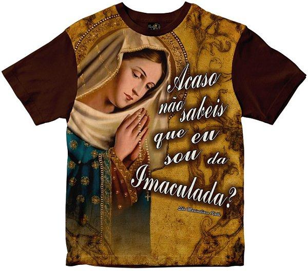 Camiseta Acaso Não Sabeis que sou da Imaculada Rainha do Brasil