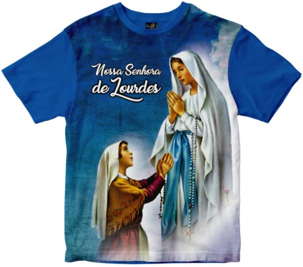 Camiseta Nossa Senhora de Lourdes Rainha do Brasil
