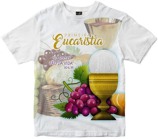 Camiseta Primeira Eucaristia Rainha do Brasil