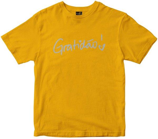 Camiseta Gratidão Feminina amarela Rainha do Brasil