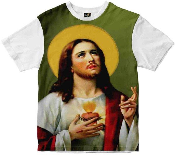 Camiseta Sagrado Coração de Jesus Rainha do Brasil