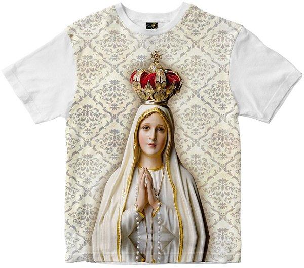 Camiseta Nossa Senhora Senhora de Fatima Rainha do Brasil