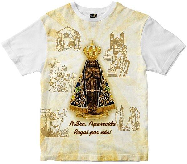 Camiseta Nossa Senhora Senhora Aparecida Rainha do Brasil