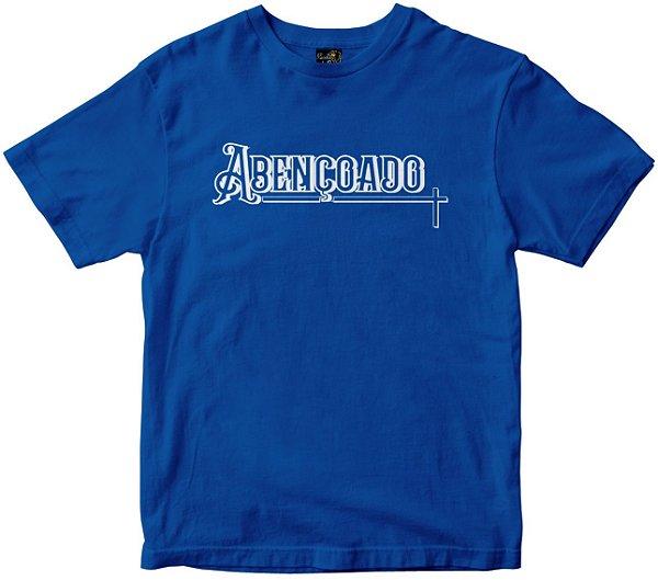 Camiseta Abençoado azul Rainha do Brasil