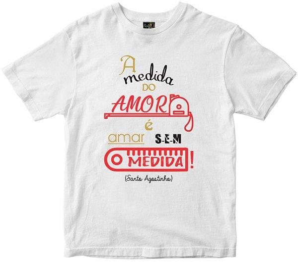 Camiseta A medida do Amor branca Rainha do Brasil