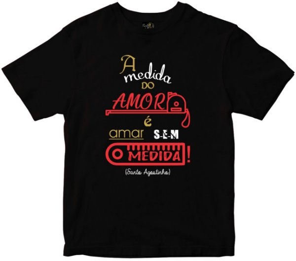 Camiseta A medida do Amor preta Rainha do Brasil