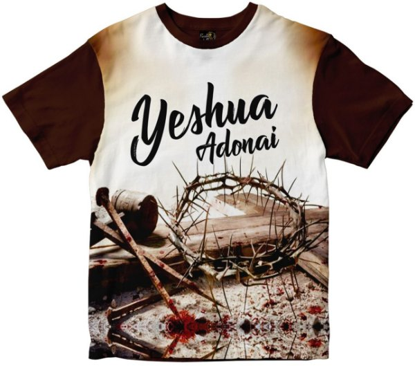 Camiseta Yeshua Adonai Rainha do Brasil