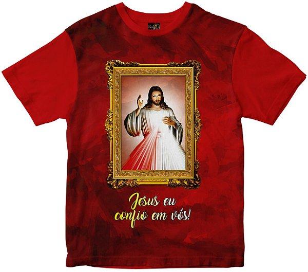 Camiseta jesus Misericordioso Rainha do Brasil