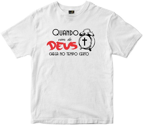 Camiseta Quando Vem de Deus Rainha do Brasil