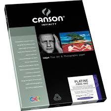 Papel Fotográfico Canson Platine Fibre Rag 310g A4 25folhas