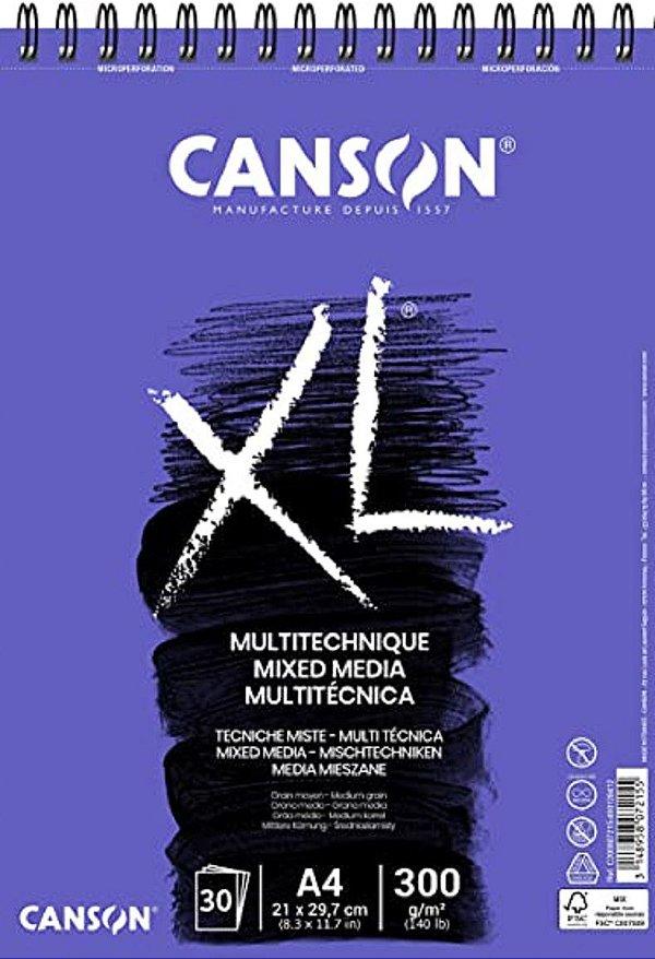 Bloco De Papel Canson Xl Mix Media - 300g/m² A4 - 30folhas